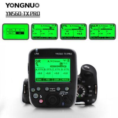 YN 560 TX Pro C vaku vezérlő 660 és 560 III és IV manuál vakuhoz Canon vázra