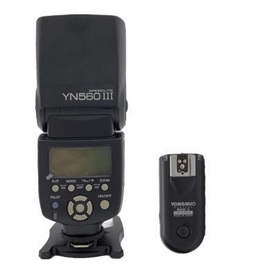 Yongnuo YN 560 III vaku és YN 603 TX jeladó szett
