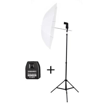 Strobist Kit: Yongnuo 560 III vaku Nikon jeladóval, ernyővel, tartóval és 190 cm-es álvánnyal