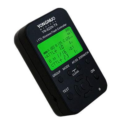 YN 622 N TX TTL vaku kioldó jeladó LCD kijelzővel Nikonhoz