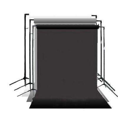 3 db-os Visico papírháttér szett Fekete, Fehér, Szürke színekkel