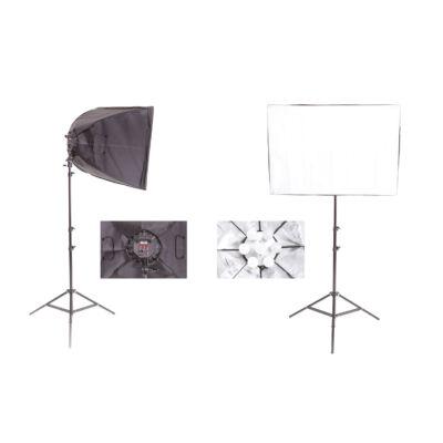 Vlog Pro LF350 Két lámpás, Led izzós szoftbox lámpa szett  2x175W LED / 5400 K